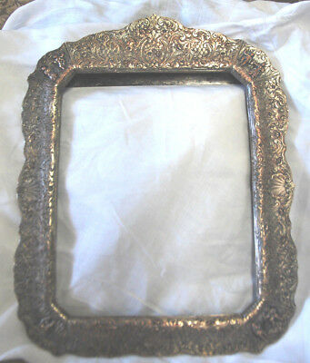 Gorgeous Antique Sterling Silver Frame marked 937, weighs over 29 ounces