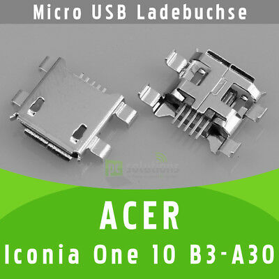 Acer Iconia One 10 B3-A30 Micro USB DC Buchse Ladebuchse Strombuchse Anschluss