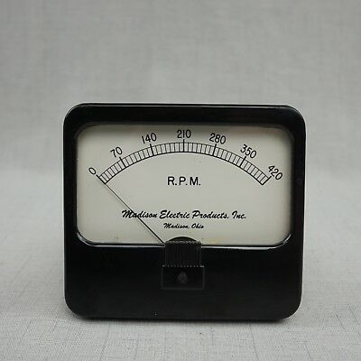 Vintage Tachometer Indicator Madison Electric Products,  Inc R.P.M 420 UNTESTED