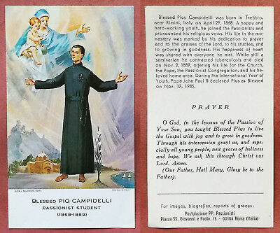 Santino Holy Card: Blessed Pio Campidelli