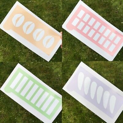 Makeup Swatch Stencil Template Sticker Eyeshadow Pigment Cosmetic - UK SELLER