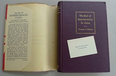 1931 End of Exterritoriality in China Thomas F Millard ABC Press Shanghai 1st Ed