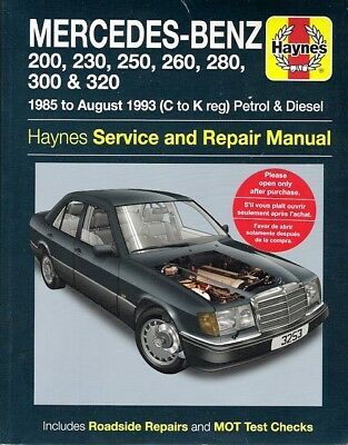 1985-1993 Mercedes Benz 124 Series Gas/Diesel Haynes Service Repair Manual 9485