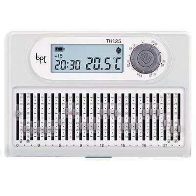 Bpt Th125Bb - Thermostat Programmable Numérique Journalier Mur Blanc 3X1