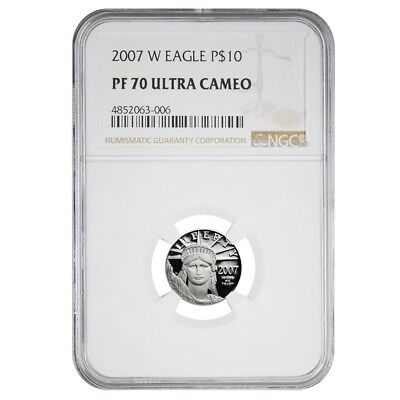 2007 W 1/10 oz $10 Platinum American Eagle Proof Coin NGC PF 70 UCAM