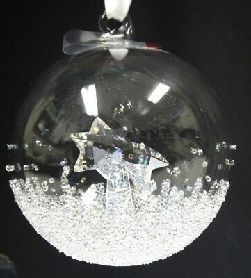 Christmas Ball Ornament Large Annual Edition 2018 Swarovski Crystal 5377678