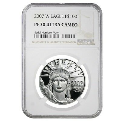 2007 W 1 oz $100 Platinum American Eagle Proof Coin NGC PF 70 UCAM
