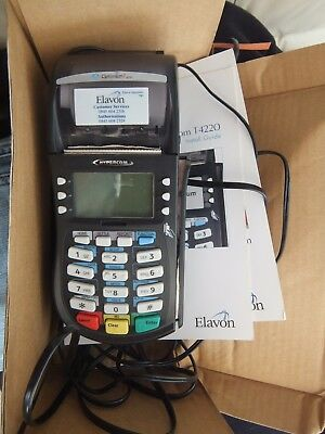 Hypercom-Optimum-T4220- card reader terminal with power lead and paper rolls etc