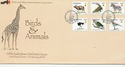 FDC - Zimbabwe - Birds and Animals - 2000 - (2657) (X)