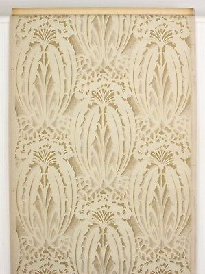 1920s Antique Vintage Wallpaper Beige And Gold Art Deco 24 00