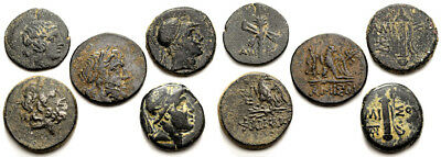 FORVM VF Lot of 5 Ancient Greek Coins 120-60 BC (4) Amisos (1) Pharnakeia
