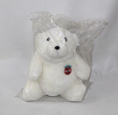 Vintage SEALED NOS 1993 Coca-Cola Coke Stuffed Polar Bear Plush Advertising