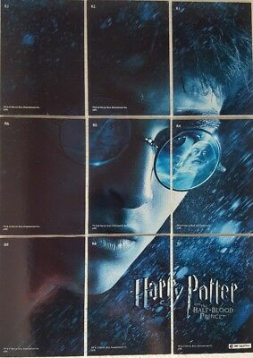 HARRY POTTER & The Half Blood Prince PUZZLE CARD SET of 9 Artbox R1 - R9