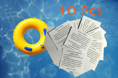 10 Vinyl PVC Puncture Repair Patch Inflatable Toy Swimming Pool Lilo Airbed Boat