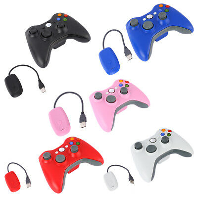 Wireless Game Controllers Gamepad Joystick+Receiver For Microsoft Xbox 360 2. lt