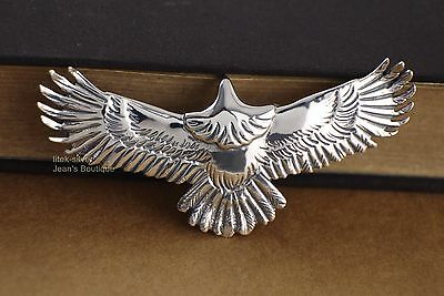 925 Sterling Silver ROCK PUNK Biker Eagle Charm Pendant Men A2325