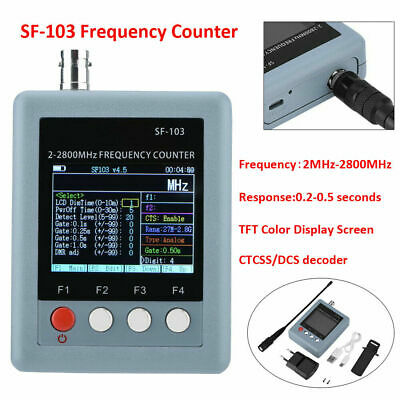 SF-103 2MHz-2800MHz Hand-Held Wireless Frequency Counter Meter CTCSS/DCS Decoder
