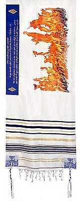 "Span-Prayer Shawl-Flame Of Pentecost (72"" x 22"")-Acrylic"