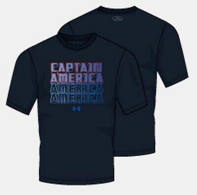 Under Armour Ua Marvel Captain America Avengers Loose Heatgear Tee Infinity War