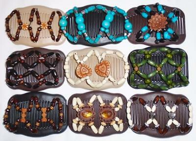 "Double Magic Hair Combs, Angel Wings Clips 4x3.5"", African Butterfly,Quality S47"