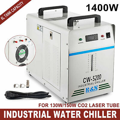 Industrial Water Chiller cool single 130W 150W CO2 Laser Tube CW-5200D 110V 60HZ