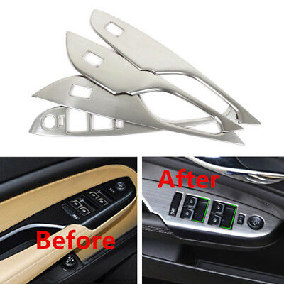 For Cadillac SRX 2010-2016 Stainless Steel Inner Door Armrest Window Lift trim