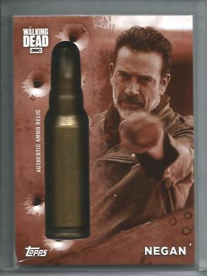 Negan 2017 Topps The Walking Dead Authentic Ammo Relic #01/10