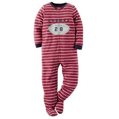 2d9fd593bfce CARTERS BOYS SIZE 7 Fleece Pajamas Football Theme -  9.99