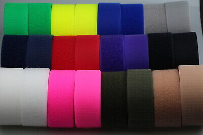 """Hook and Loop 50mm 2"""" x 5 metres Fastening Strap tape both sides Horse Dog Coats"""