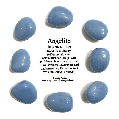 *1* ANGELITE  Natural Tumbled Stone Approx 20mm-30mm *TRUSTED SELLER*
