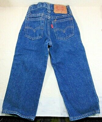 "Vintage Levi's Denim Jeans size 2 toddler baby 302-0117 Excellent (18x14.5"") USA"