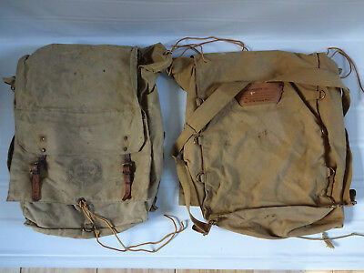 (2) Vintage Boy Scouts of America Official Yucca Pack No.574 Backpack Diamond