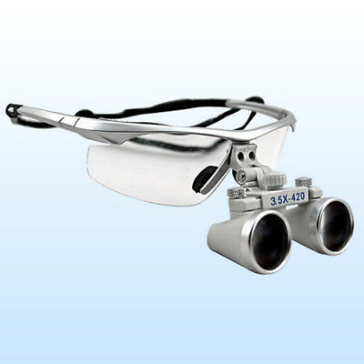 3.5X420 Dental Loupes Surgical Binocular Loupe Magnifying Glasses Medical Titani