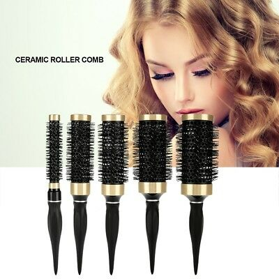 Ceramic Roll Brush Round Hair Comb Wavy Curly Styling Care Curling Beauty Salon