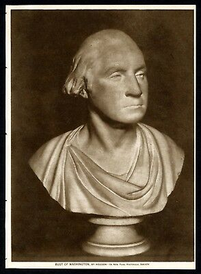 Picture of BUST OF WASHINGTON by HOUDON - 1914 Sepia Photogravure