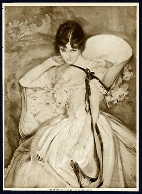 Picture of IDLENESS painting by Mary Greene Blumenschein 1914 Sepia Photogravure