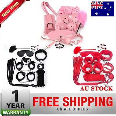 14PCS Bondage Beginners/Starter Kit/Pack Cuffs Restraint Fetish Sex BDSM Toy New