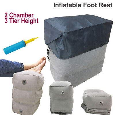 Inflatable Foot Rest Footrest Cushion Pillow Flight Travel Car Train Portable