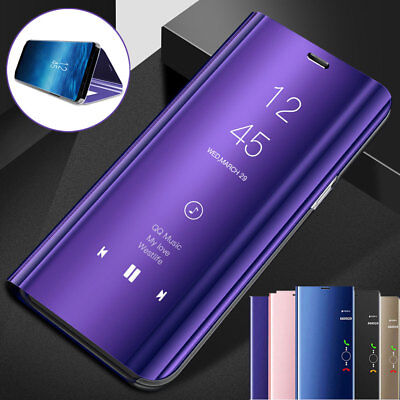Flip Stand Mirror Cover for Huawei Y5Prime/Y6 Y7/Y9 2018 Honor10 Clear View Case