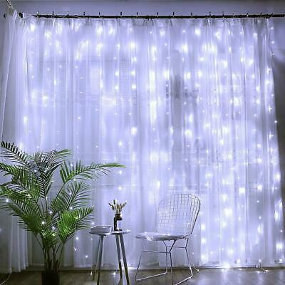 6M*3M LED Curtain String Fairy Lights for Wedding Bedroom Indoor Party Garden
