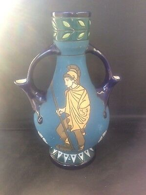 c1920 Czech Amphora Pottery Arts & Crafts Art Nouveau Deco Ewer Pitcher Roman
