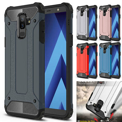For Samsung J4/J6 J7DUO/A6Plus 2018 Hybrid Armor Case Shockproof PC Rubber Cover