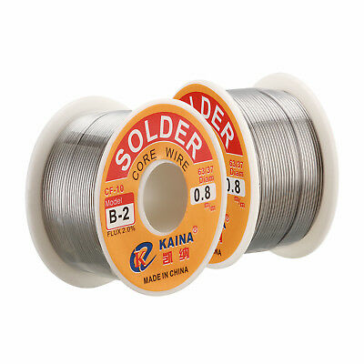 63/37 Tin Lead Rosin Core Wire Solder Flux Soldering Welding Iron Reel 0.6-1mm