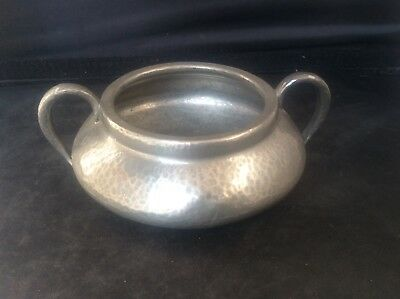 Antique Liberty & Co Tudric Solkets Hammered Pewter Arts & Crafts Sugar Bowl 352