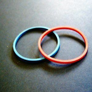 Ideal Standard A963167NU Dallas Indice Rings ~ Blue and Red ~ Pair