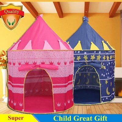 Portable Pop Up Kids Play Tent Girls Princesses Castle Fun House Pink Indoor TE