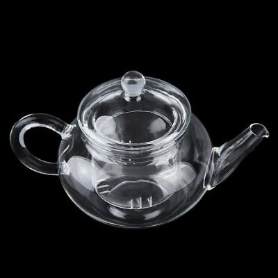 HOT 250ml Heat Resistant Transparent Glass Teapot Infuser Coffee Herbal Tea ND