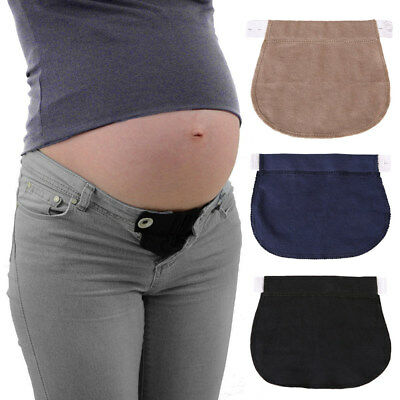 Maternity Extender Trousers Pregnancy Waistband Belt Adjustable Elastic Waist