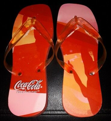 a6f41d1d93c319 Collectable Pair Of Coke Coca Cola Thongs Flip Flops Brand New With Minor  Faults