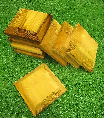 Wooden Fence Post Caps | Fully Pressure Treated | for 75mm or 100mm Posts